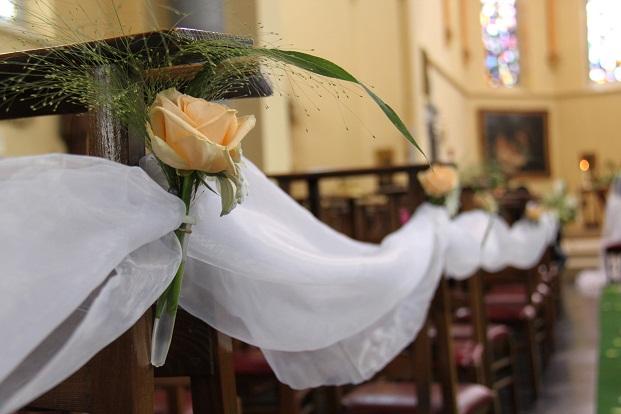 Mariage Christine et Patrice - Décoration église
