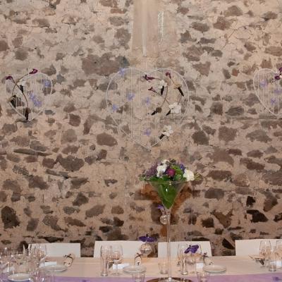 Mariage Carole et Bruno - Décoration salle