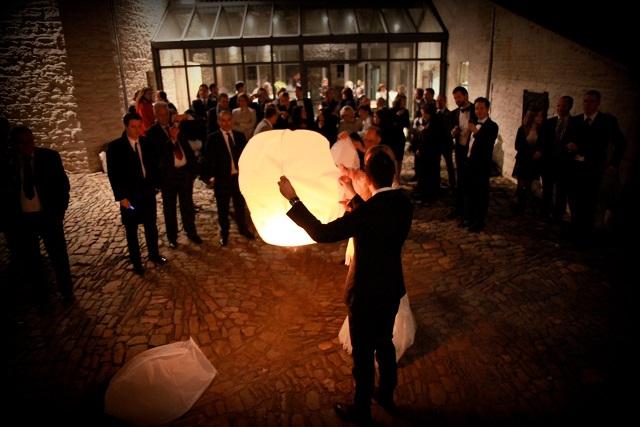 Mariage Catherine et Giulio - Lâcher de lanternes