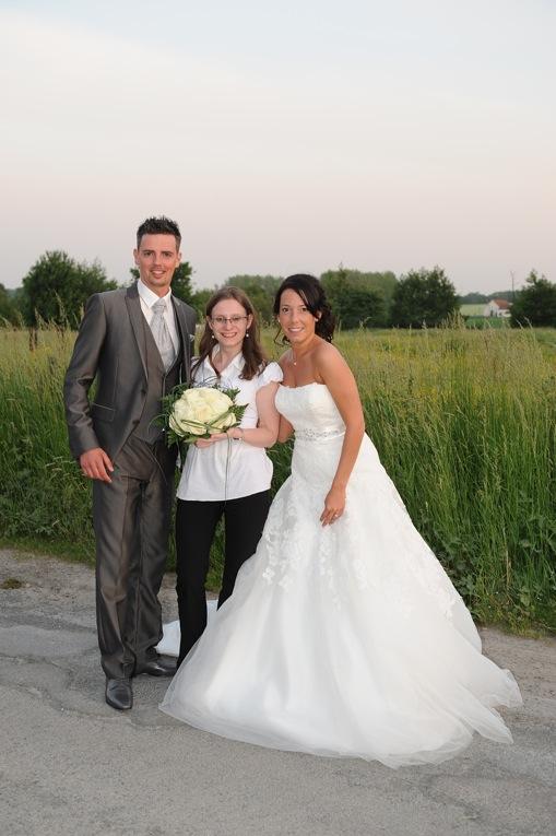 Mariage Anouck et Sébastien - Mariés et maitre de cérémonie