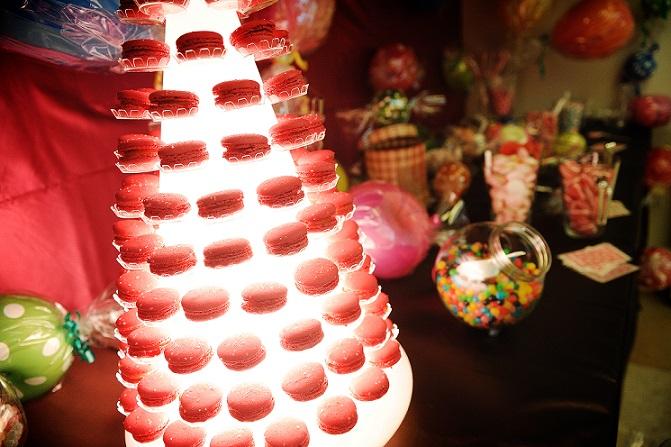Mariage Audrey et Fabio - Tour macarons et candy bar